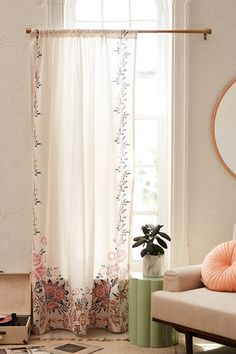 Adrian Climbing Floral Window Panel | Urban Outfitters