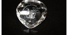 OFA Products Engraved Clear Crystal Heart, ``Congratulations on your 30th`` With Engraved Celebratory Wine Bottle <b>Congratulations on your 30th Crystal Heart A very pretty gorgeous clear crystal heart would make a lovely gift. This crystal features engraved Celebrato (Barcode EAN = 5055407503536) http://www.comparestoreprices.co.uk/birthday-gifts/ofa-products-engraved-clear-crystal-heart-congratulations-on-your-30th-with-engraved-celebratory-wine-bottle.asp