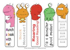As part of our monsters theme, we bring you these lovable monster printables, including some of the most popular bookmarks and lacing cards at Activity Village! Bookmarks For Books, Cute Bookmarks, Monster Theme Classroom, Classroom Themes, Free Printable Bookmarks, Free Printables, Ck Summer, Monster Bookmark, Marque Page