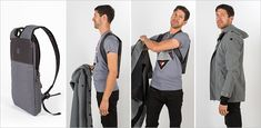 This thin laptop backpack is designed to be worn under a jacket via contemporist