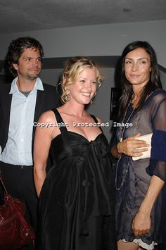"""Tod Culpan """"Kip"""" Williams with his wife actress Gretchen Mol and his ex wife actress Famke Janssen"""