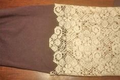Lace Panel Infinity Scarf7 DIY Lace Panel Infinity Scarf