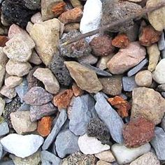 INTERESTING SITE FOR COMMUNITY COMMON ROCKS and how to identify them. Photo: This gravel is a mix of rock types.