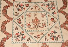 Important Broderie Perse and Cotton Appliqued Quilt w/ Exuberant Bird, Floral, and Butterfly Motifs, Baltimore, c1825 -- Lot 239 -- September 15, 2012 Maryland Auction -- Crocker Farm, Inc.