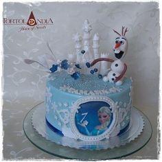 Olaf & Frozen - Cake by Tortolandia