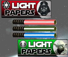 Lightsaber rolling papers! Star Wars darth vader joints  Use the force  Marijuana green ganja weed