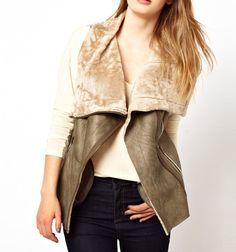 MUUBAA $748 Shearling Vest Sheepskin Draped Gilet Bohemian Leather Jacket Small #Muubaa #Vest #Casual