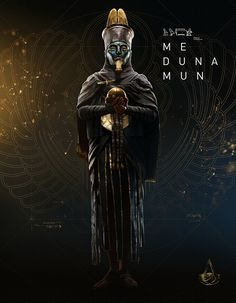 View an image titled 'Medunamun Art' in our Assassin's Creed Origins art gallery featuring official character designs, concept art, and promo pictures. Assassins Creed Game, Assassins Creed Origins, Assassins Creed Odyssey, Egyptian Mythology, Ancient Egyptian Art, Egyptian Pharaohs, Egypt Concept Art, Tomb Kings, Amoled Wallpapers