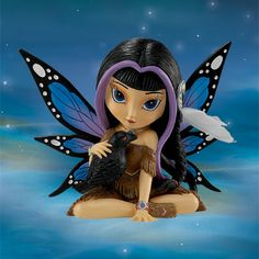 Ravensky Fairy - Spirit Maidens - Jasmine Becket Griffith - Bradford Exchange - Burning Desires Gifts