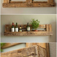 Pallet Rustic Shelf  #HomeDécor, #LivingRoom, #RecycledPalletShelves, #RecyclingWoodPallets