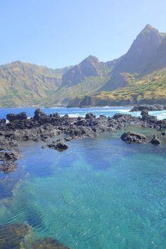 Fajã de Agua village on the northwestern coast of the island of Brava, Cape Verde - Africa