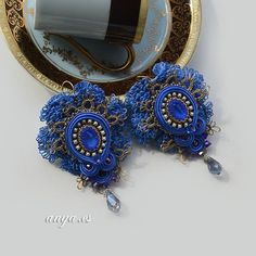 my jewellery work by anya. es #anya.es #soutache #earrings #handmade #frywolitka #myjewellywork #soutache #embroidery #sutasz #tatting #dlaSylwi
