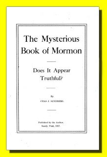 The Book Shelf: The Mysterious Book of Mormon by Charles J. Sundbe...