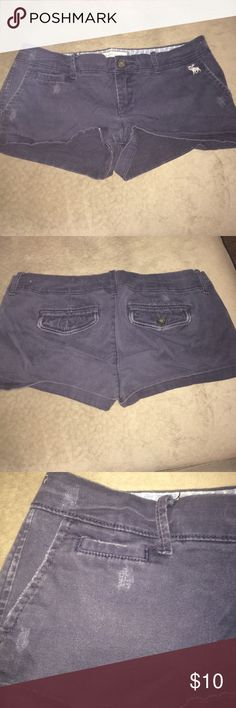 Abercrombie and Fitch Blue stretch shorts Abercrombie and Fitch navy stretch shorts. 98% cotton 2% elastane. Distressed Abercrombie & Fitch Shorts