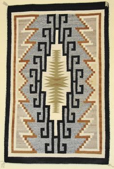 Two Grey Hills Navajo rug. #modernsouthwest