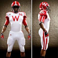 Wear Wolves: The Big 10 football edition College Football Uniforms, Sports Uniforms, Football Helmets, American Football, Big Ten Football, Wisconsin Badgers Football, Best Uniforms, University Of Wisconsin, Sport Fashion