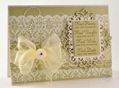 Becca Feeken, Amazing Paper Grace, elegant card with Spellbinder's dies