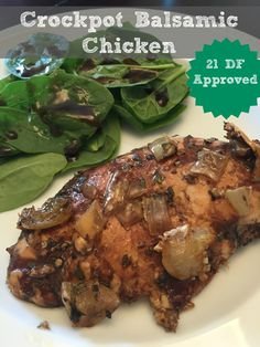 Crockpot Balsamic Chicken - 21 Day Fix Approved - Create Bake Celebrate