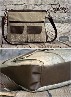I love all the different variations on this bag sewing pattern for a crossbody bag. Just released by Swoon, if you click through you can see lots of different tester versions in all sorts of fabrics as well as some made with vinyl accents like this one. Works for a guy-bag too.