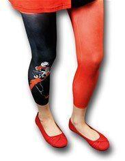 Harley Quinn Pattern Women's Footless Tights #footlesstights