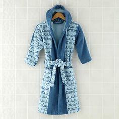 Kids Bath Robes: Rain Rain Go Away Bath Robe in All Bath