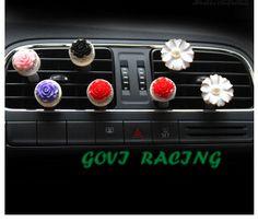 2pcs car perfume flowers air freshener auto 100 original women parfume for car air vent  red/blue car styling  car-styling
