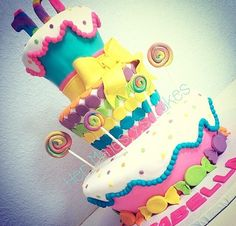 Colorful candy cake shared by Lula Monzón on We Heart It Birthday Candles, Birthday Cake, Teen Decor, Candy Cakes, Colorful Candy, Party, Toddlers, Desserts, Ideas