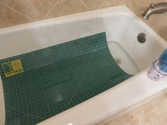 """>Cleaning Olfa Rotary Mat in Regular sized bathtub > = """"Flourishing Palms: Rotary Mat Tip, and Smiles""""  >this is how I did mine but had water go up to the mat edges > amt water/vinegar tba soon as doing again shortly on another mat"""