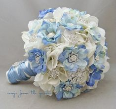 Bridal Brooch Bouquet, Diy Wedding Bouquet, Diy Bouquet, Bridesmaid Bouquet, Bridal Bouquets, Prom Flowers, Silk Flowers, Wedding Flowers, Flowers Garden