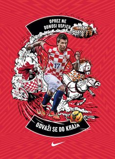 "Mandzukic ""Gladiator"" - Illustration for Nike Croatia by Adi Gilbert - 99seconds.com"