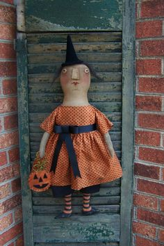 Witch by The Smiling Goat Primitives and Folkart