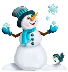 """Photo from album """"Снеговики. Clipart Noel, Snowman Clipart, Christmas Clipart, Christmas Printables, Christmas Pictures, Christmas Snowman, Christmas Crafts, Christmas Decorations, Christmas Ornaments"""
