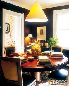 elle decor black dining room