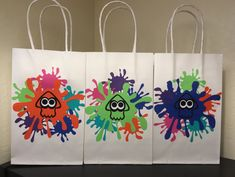 Splatoon Party Bags by 1CraftyMamaBear on Etsy