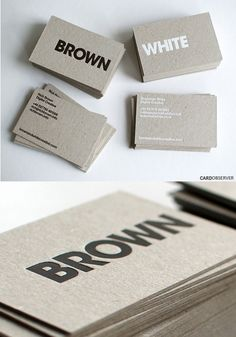 341 best Creative Business Cards images on Pinterest   Business     The 2 card designs were printed on 625gsm Dutch Grey Board  with debossed  foil block  Letterpress Business CardsCreative