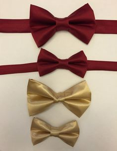 67a6b5c5a88b Gold Father and Son Matching Bow Ties, Daddy and Baby Bow Ties, Gold Bow Tie,  Gold Satin Bow Ties, Wedding Bow Tie, Toddler Bow Tie