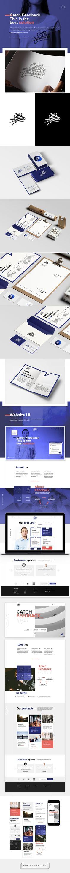 Catch Feedback - Branding and Website on Behance - created via https://pinthemall.net