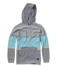 Love this Gray & Blue Stripe Pullover Hoodie - Toddler & Boys by Quiksilver on #zulily! #zulilyfinds