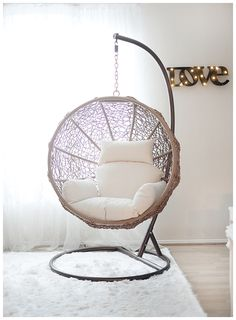swing chair on sale, indoor swing chair @janawilliamsx0 http://www.uk-rattanfurniture.com/product/miadomodo-polyrattan-sun-lounger-ca-2056532-cm-recliner-bed-chair-garden-furniture-brown/