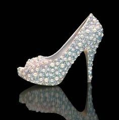 HIT or MISS? Morning dew pearls over AB crystals luxury bridal heels - MARC DEFANG NEW YORK  http://thepageantplanet.com/category/pageant-wardrobe/