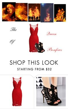 """""""The queen of bonfires"""" by ria-c ❤ liked on Polyvore featuring ML Monique Lhuillier"""