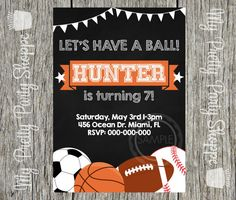 Sports Theme / Baseball / Basketball / by MyPrettyPartyShoppe