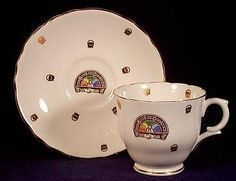 Rainbow Girls Cup and Saucer Set - I want to find one of these sets.