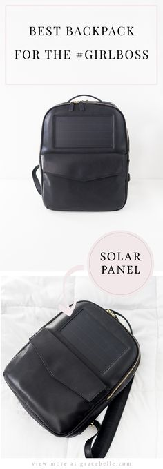 Best Backpack for the Girl Boss!! It has a built in solar panel charger 2be60fc5950