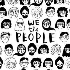 Drawings People ❤️ for our great nation and the people who make it so. Happy Friday everyone. Abstract Illustration, Face Illustration, People Illustration, Character Illustration, Cartoon Drawings, Art Drawings, Posca Art, Art Sketchbook, Drawing People