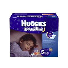 Huggies OverNites Diapers, Size 5, Big Pack, 52 Count - http://www.discoverbaby.com/diapers/huggies-overnites-diapers-size-5-big-pack-52-count/