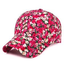 e34a50f6f7d 2017 Samll Floral Baseball Cap For Women Summer Beach Fashion Sun hat