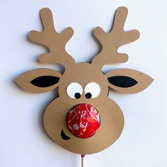 Christmas Activities, Christmas Crafts For Kids, Holiday Crafts, Christmas Decorations, Christmas Parties, Reindeer Noses, Reindeer Craft, Rudolph Christmas, Christmas Angels