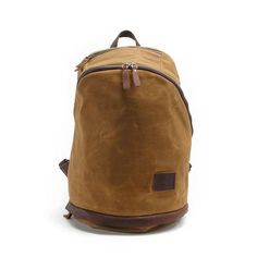 Waxed Canvas Leather Laptop Backpack, Waterproof Rucksack, Rucksack MC038
