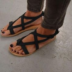 a4095c9e992341 Roman look casual leather sandals ~ 3 colors!